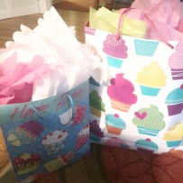 My DNA besties all gave me gifts in cupcake bags! Life of a baker.